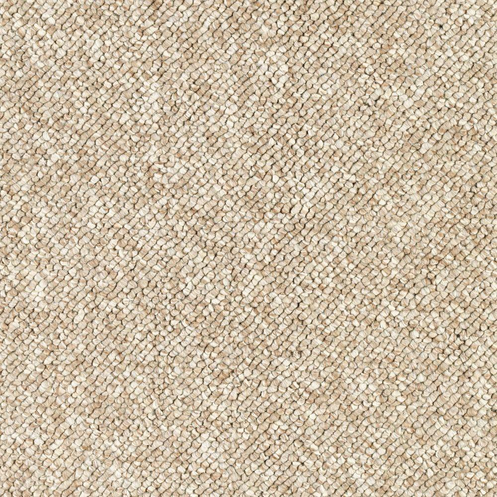 Qualifier - Color Timeless Beige Loop 12 ft. Carpet