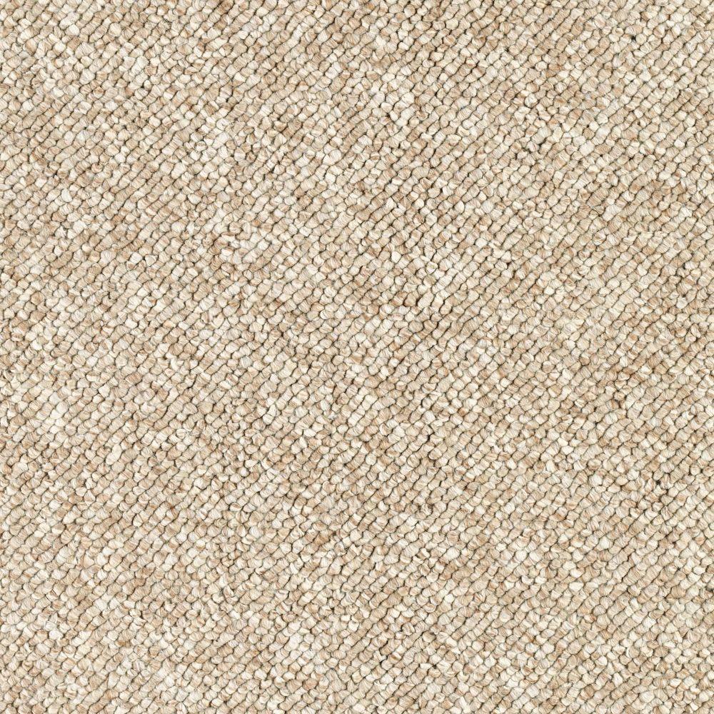 Qualifier - Color Timeless Beige Loop 12 ft. Carpet