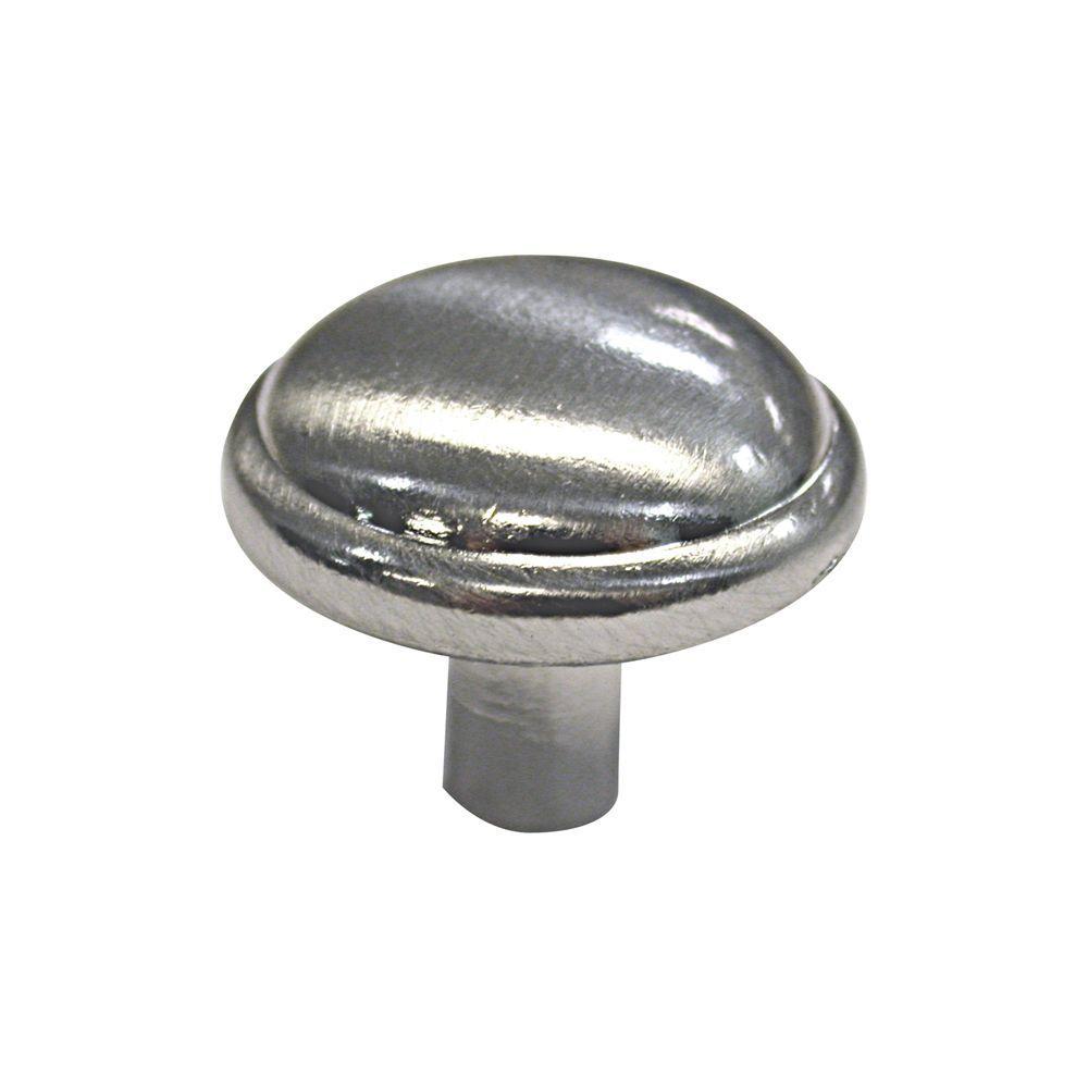 1-1/4 in. Satin Nickel Button Knob