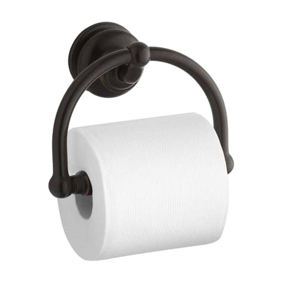 kohler fairfax single post toilet paper holder in oil rubbed bronze k 12157 2bz the home depot. Black Bedroom Furniture Sets. Home Design Ideas