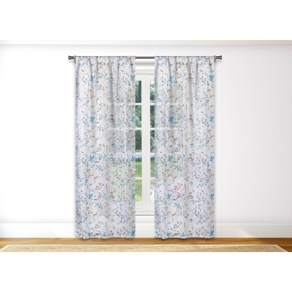 Idella Blue Room Darkening Pole Top Pair Panel - 36 in. W x 84 in. L (2-Piece)