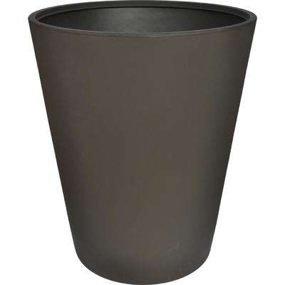 Toscana 28 in. Smoke Plastic Tall Round Patio Planter