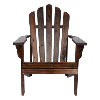 Westport Burnt Brown Cedar Wood Adirondack Chair