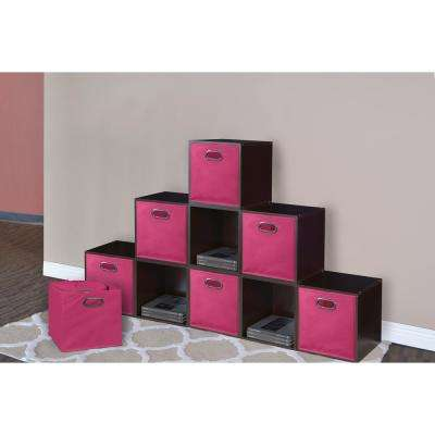 Cubo 12 in. x 12 in. Pink Foldable Fabric Bin (12-Pack)
