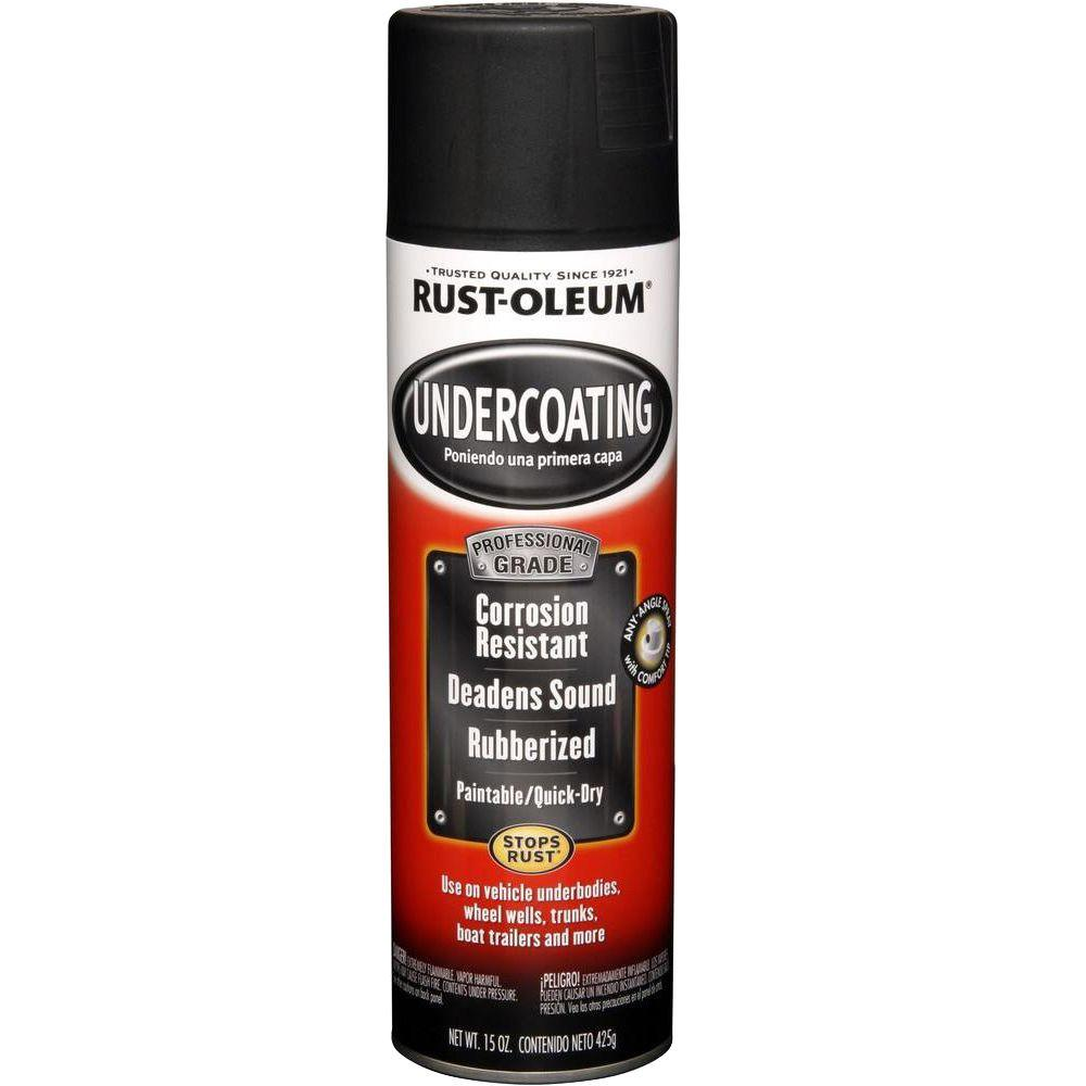 RustOleumAutomotive Rust-Oleum Automotive 15 oz. Professional Grade Matte Black Rubberized Undercoating Spray (6-Pack), Flat Black
