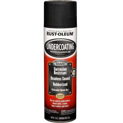 15 oz. Professional Grade Matte Black Rubberized Undercoating Spray (6-Pack)