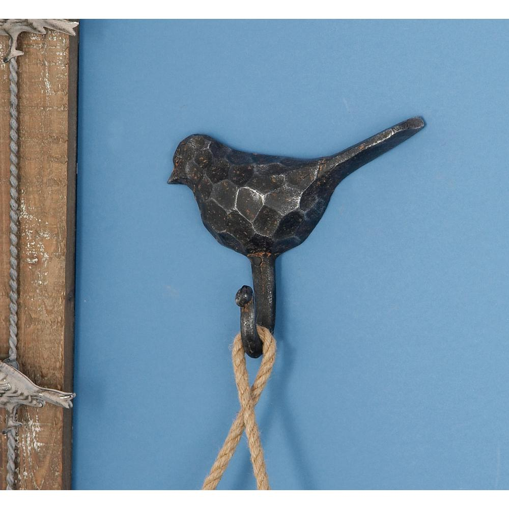 7 in. W x 6 in. H Hammered Gray Iron Bird
