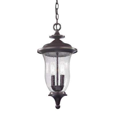 Trinity 2-Light Oil Rubbed Bronze Outdoor Pendant