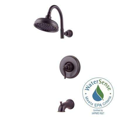 Ashfield Single-Handle Tub and Shower Faucet Trim in Tuscan Bronze (Valve Not Included)
