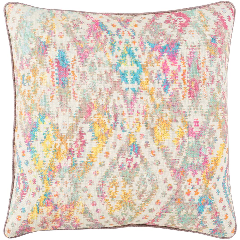 Artistic Weavers Yang Multicolored Graphic Polyester 20 In X 20 In Throw Pillow S00161003126 The Home Depot