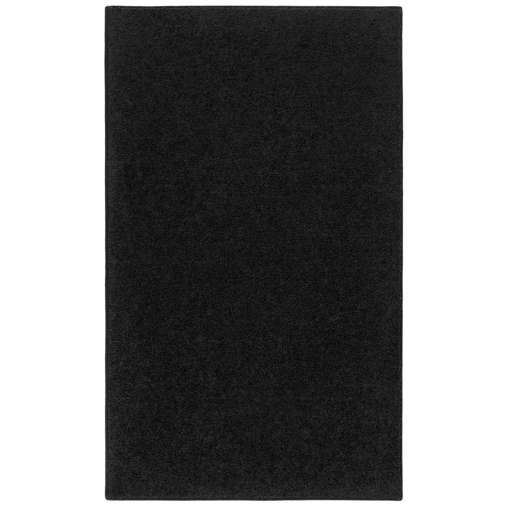 Nance Industries OurSpace Black 4 ft. x 6 ft. Bright Accent Rug