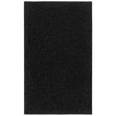 OurSpace Black 4 ft. x 6 ft. Bright Accent Rug