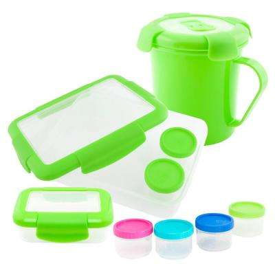 4-Piece Food Storage Container Assorted Pack in Green