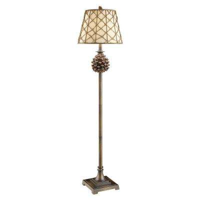 61 in. Natural Pinecone Floor Lamp