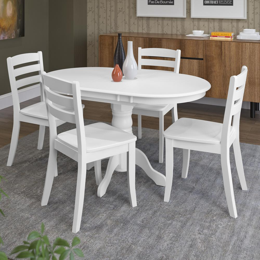 5 piece dining room sets corliving dillon 5 extendable white wooden dining 22864