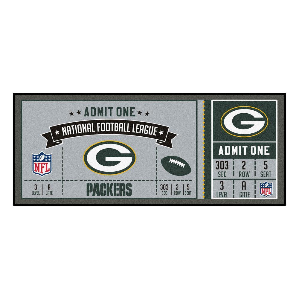 NFL - Green Bay Packers 30 in. x 72 in. Indoor Ticket Runner Rug