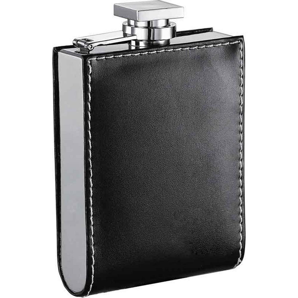 Visol Wallet Black Hip Flask 6 oz  VF1100 - The Home Depot