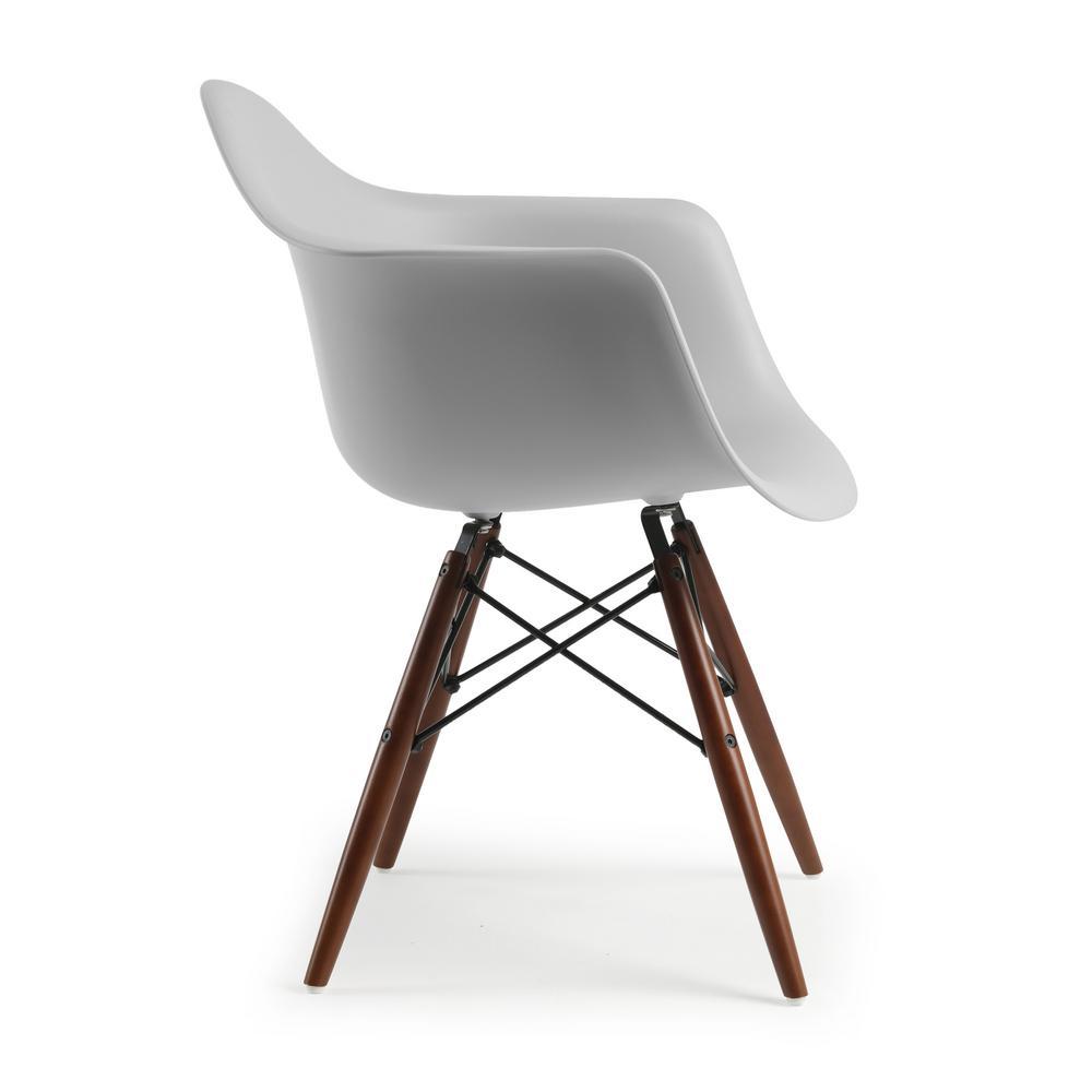 Astonishing Poly And Bark Vortex Arm Chair Walnut Leg In Harbor Grey Hd Ncnpc Chair Design For Home Ncnpcorg