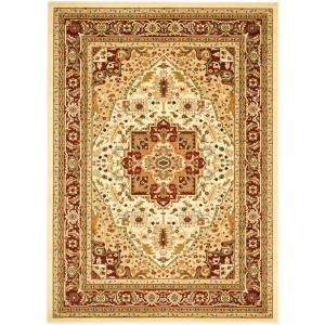 Safavieh Lyndhurst Ivory Red 10 Ft X 14 Area Rug Lnh330a The Home Depot