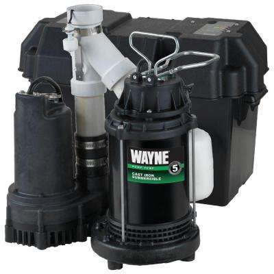 1/2 HP Battery Backup Sump Pump System