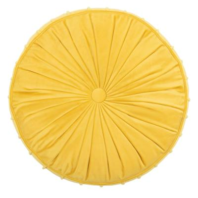 Clary 18 in. x 18 in. Polyfill Round Floor Pillow