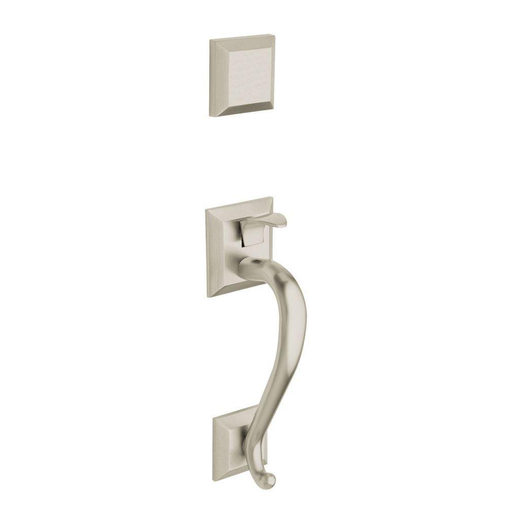 Madison Single Cylinder Deadbolt in Satin Nickel Left-Handed Full Dummy