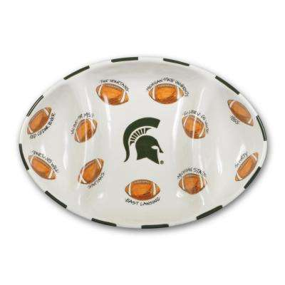 Michigan State Ceramic Football Tailgating Platter