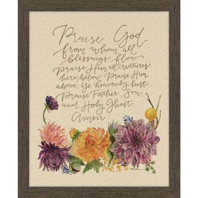 "GraceLaced ""Doxology"" by GraceLaced for Carpentree Printed Framed Natural Canvas Wall Art"