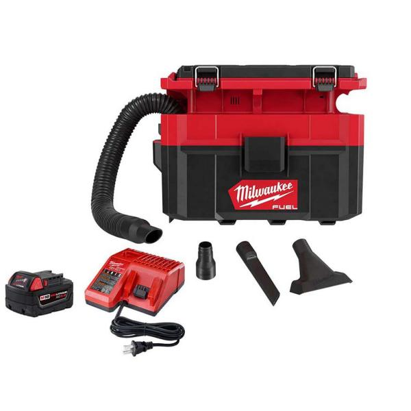 M18 FUEL PACKOUT 18-Volt Lithium-Ion Cordless 2.5 Gal. Wet/Dry Vacuum with 5.0 Ah Battery and Charger