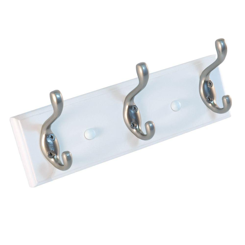 10 in. Nystrom Hook Rack White Board with 3 Aluminum Double