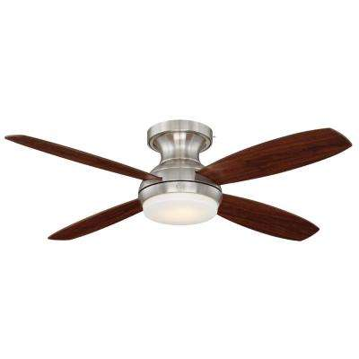 Pierson 52 in. LED Indoor Brushed Nickel Ceiling Fan with SkyPlug Technology with Remote Control