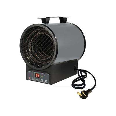 4800-Watt Portable Garage Heater with Electronic Control Remote and Bracket Gray and Black