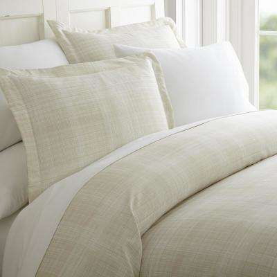 Thatch Patterned Performance Ray King 3-Piece Duvet Cover Set
