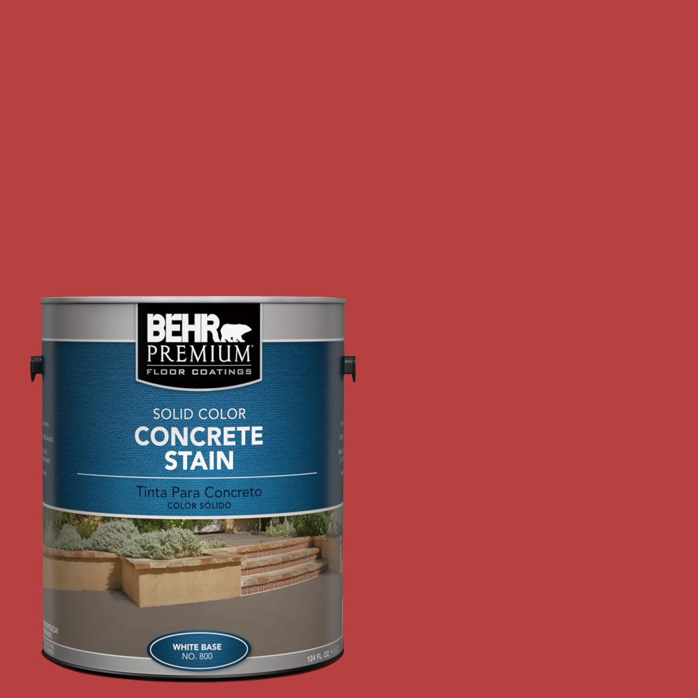 1 gal. #Osha-5 Osha Safety Red Solid Color Concrete Stain