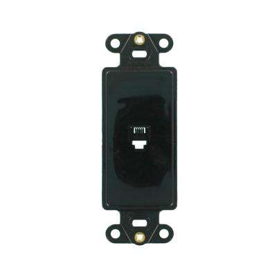 Decora 6P4C Insert Type 625, Black