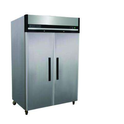 X-Series 49 cu. ft. Double Door Commercial Reach in Upright Refrigerator in Stainless Steel