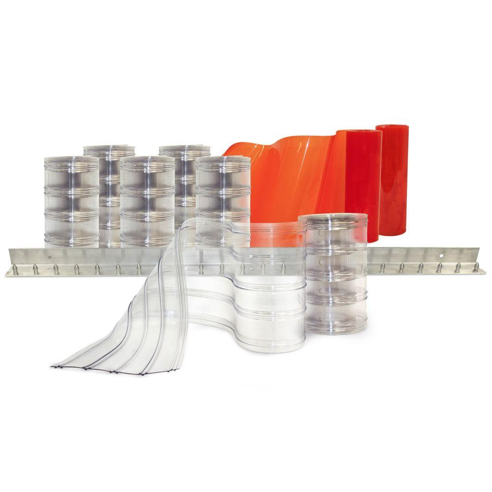 Aleco Scratch Guard 4 Ft. X 7 Ft. PVC Strip Door Kit