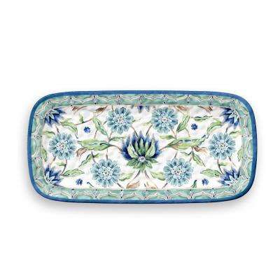 Sikandra Floral Rectangular Melamine Serve Tray