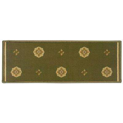High Quality Kurdamir Starlight Green 9 In. X 33 In. Stair Tread Cover