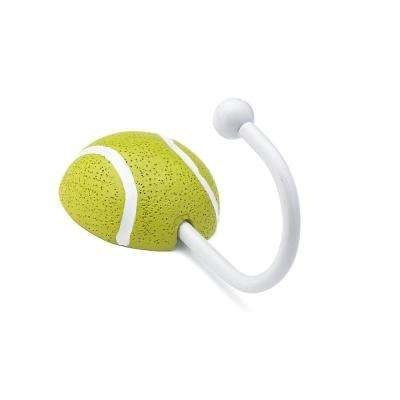 Children 3-5/8 in. Tennis Ball Decorative Hook