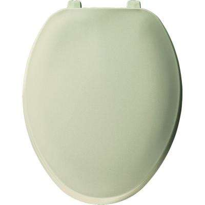 Elongated Closed Front Toilet Seat in Bone