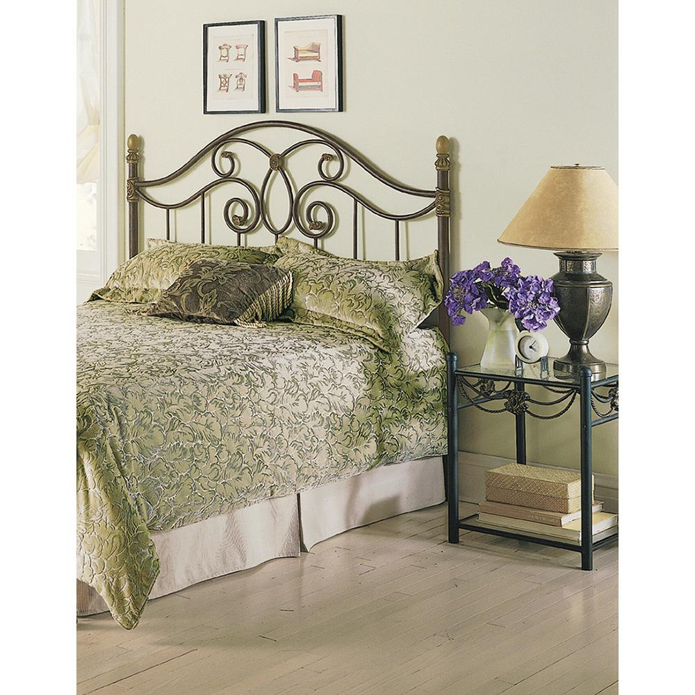 Fashion Bed Dynasty King-Size Headboard with Arched Metal...