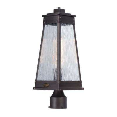 Schooner 7 in. Wide 1-Light Outdoor Olde Brass Post Light