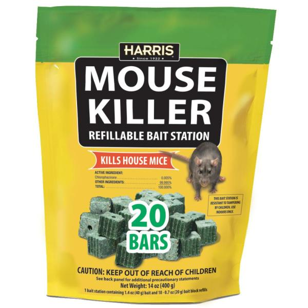 Mouse Killer Bars with Refill Bait Station (20-Pack)