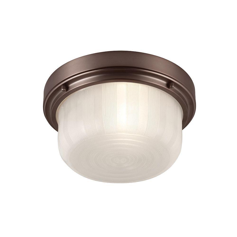 Feiss Elliot 1-Light Chocolate Flushmount
