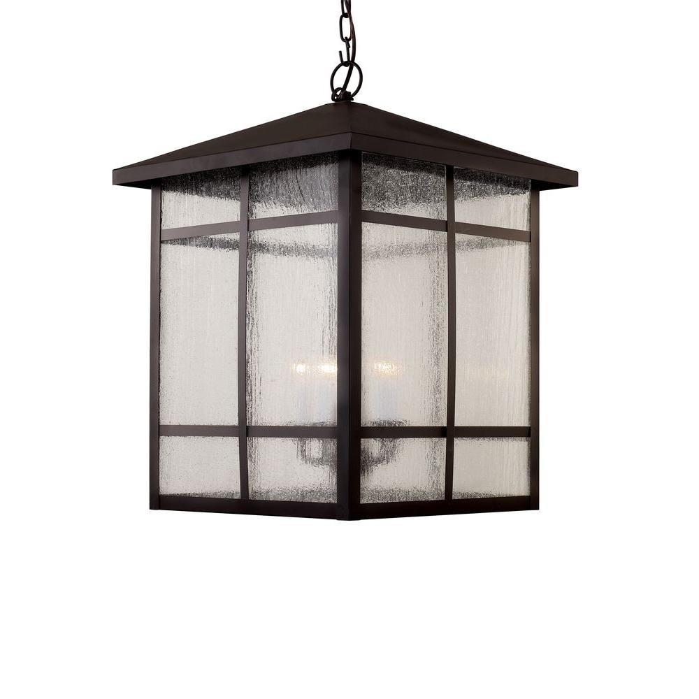 Bel Air Lighting 5-Light Rubbed Oil Bronze Outdoor Atrium Window Hanging  Lantern