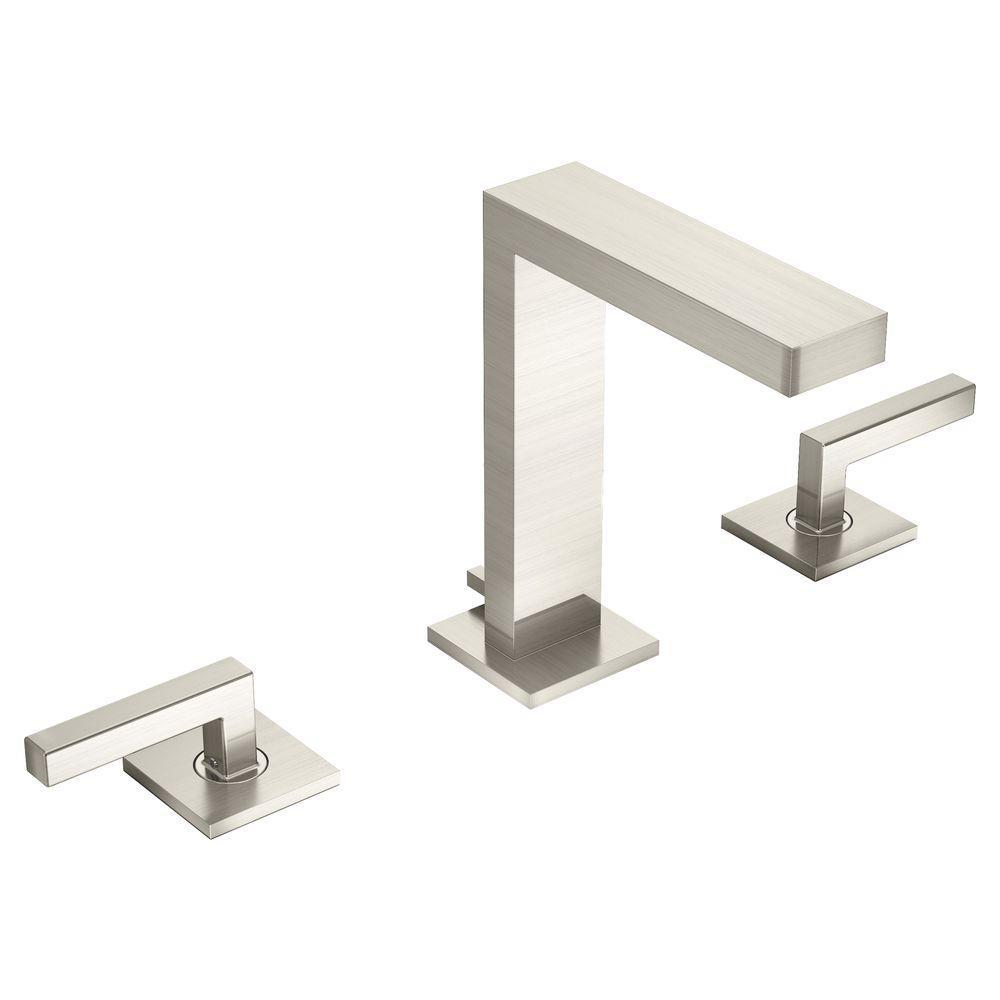 Symmons Duro 8 in. Widespread 2-Handle Bathroom Faucet in Satin ...