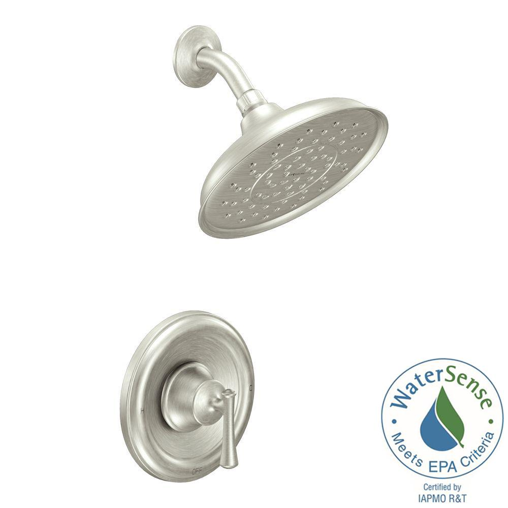 one piece shower faucet. Ashville Eco Performance Single Handle 1 Spray Shower Faucet with Valve in  Spot The Home Depot