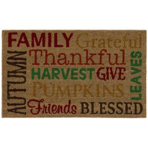 Home Accents Harvest Words 18 inch x 30 inch Door Mat by Home Accents