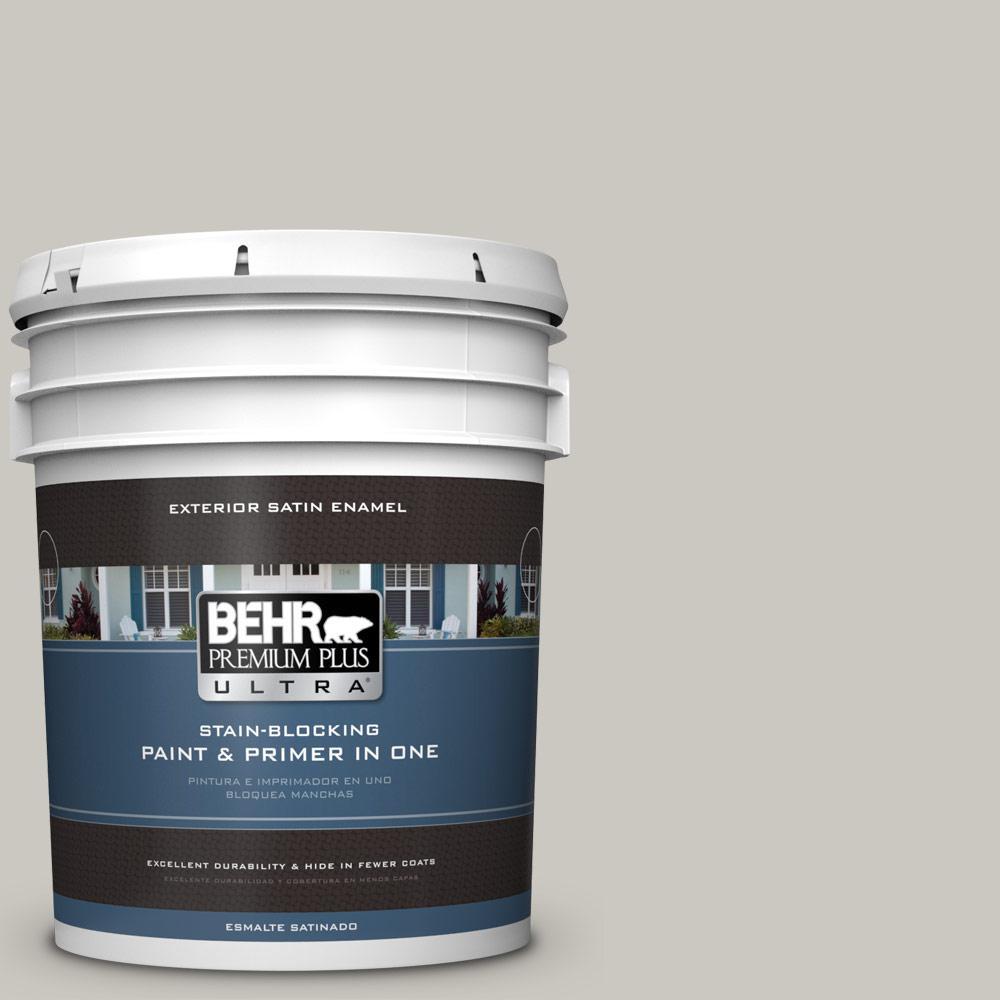 5 gal. #PPU24-12 Whitewash Oak Satin Enamel Exterior Paint